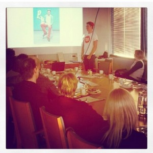 This is from Tampere, yesterday, where we held a presentation with Makke.