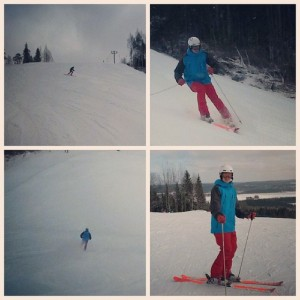 Here's pictures, of my skiing on Sunday.