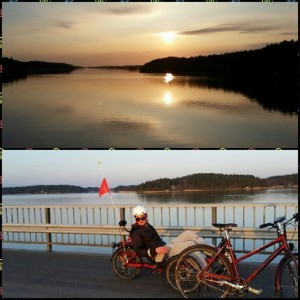Last week's Friday night was beautiful, from our ride to Satava :).