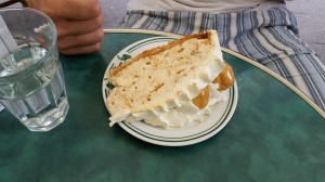 On Saturday, I got the most magnificent piece of cake I've ever been served in a cafeteria, SO FAR!