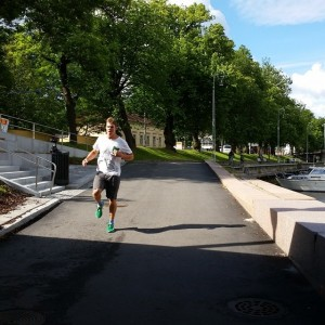 I hadn't ran outside of tracks, since last summer. It was a bit different, but I love it! The FightBack run is going to take place in Turku, too, Aurajoki riverside, 06.09!