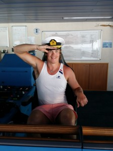 I was playing the Captain of our cruise.