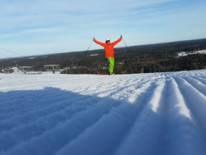 Being very happy on top of Sappee.