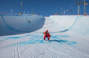 Saturday was the Half Pipe championship day, and it was beautiful!