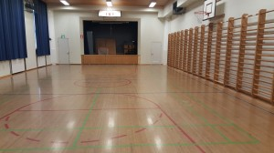 This is going to be our  training environment. My old school's athletic hall!
